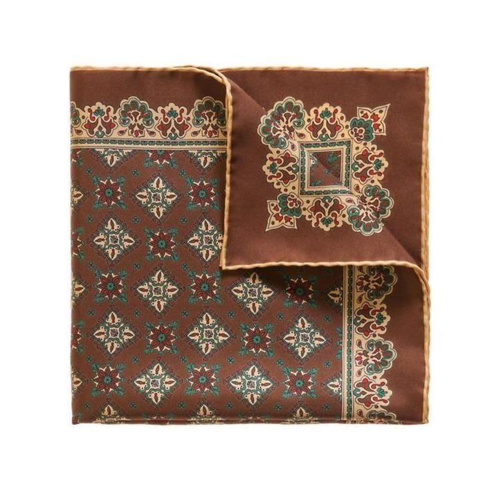 Cocoa Beans Amarone Silk Pocket Square