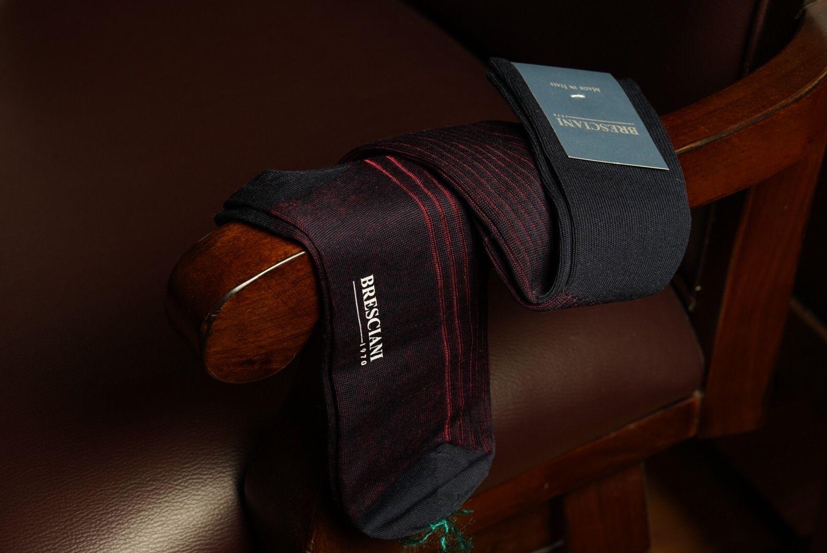 Bresciani Over Calf sock - Blu Granata