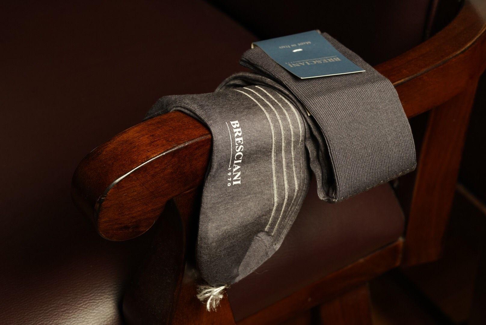 Bresciani Over Calf sock - Antracite Grey