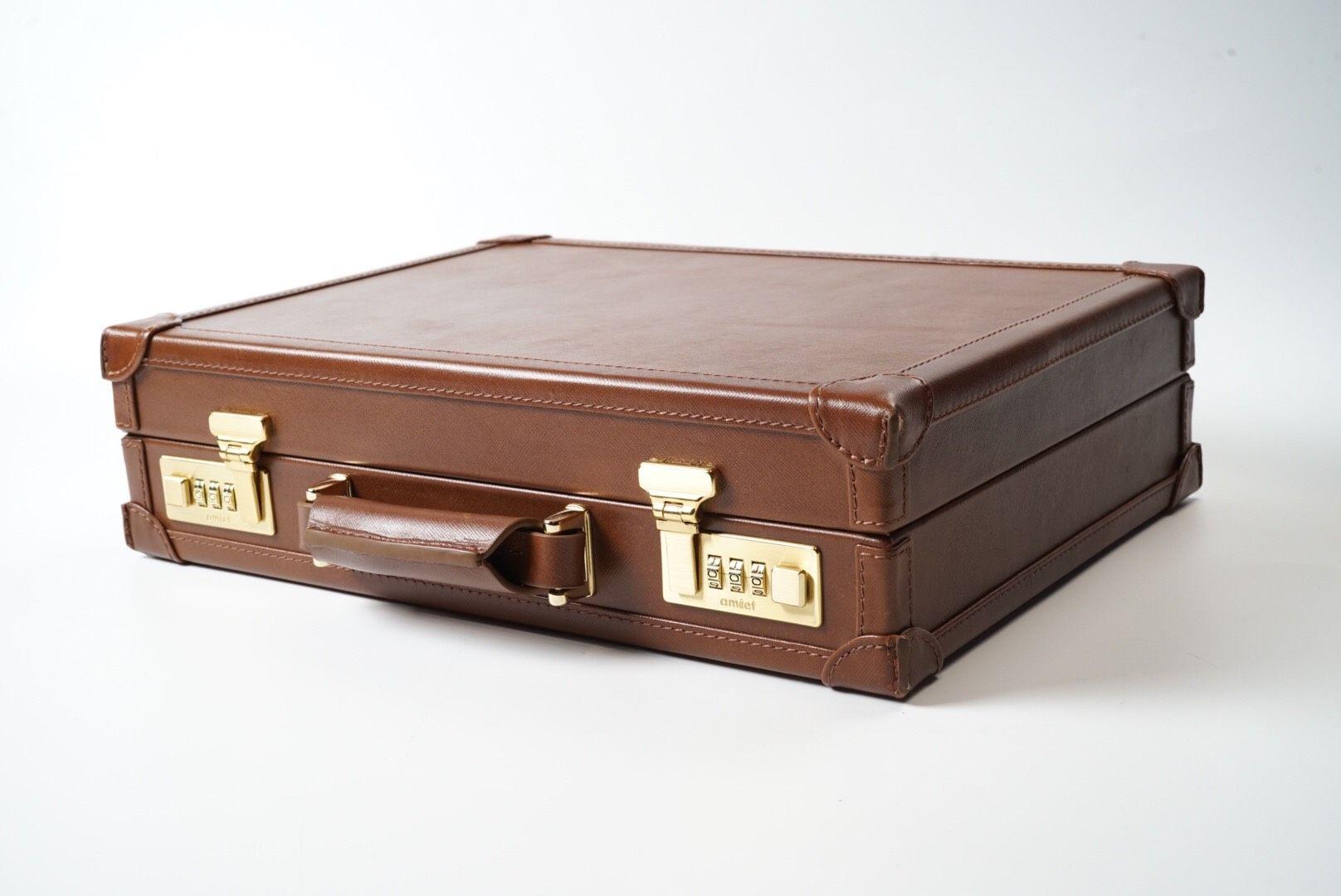 Watch Collector Case for 10 - Saffiano Dark Brown