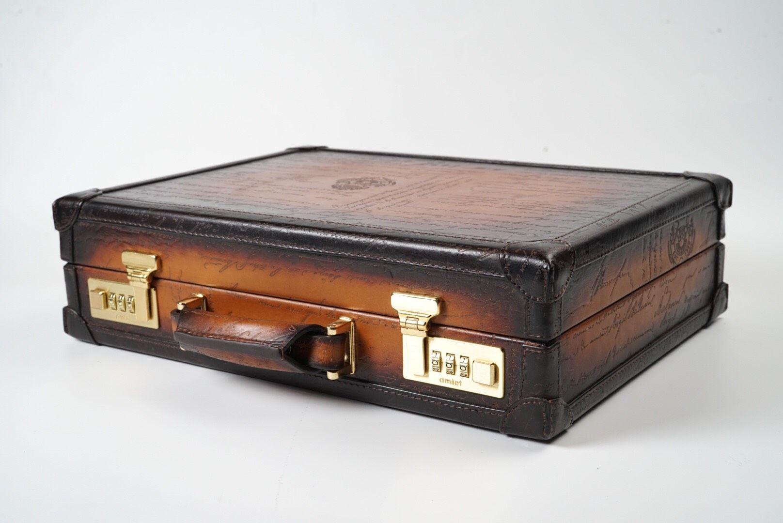 Watch Collector Case for 10 - Scripto Patina Brown