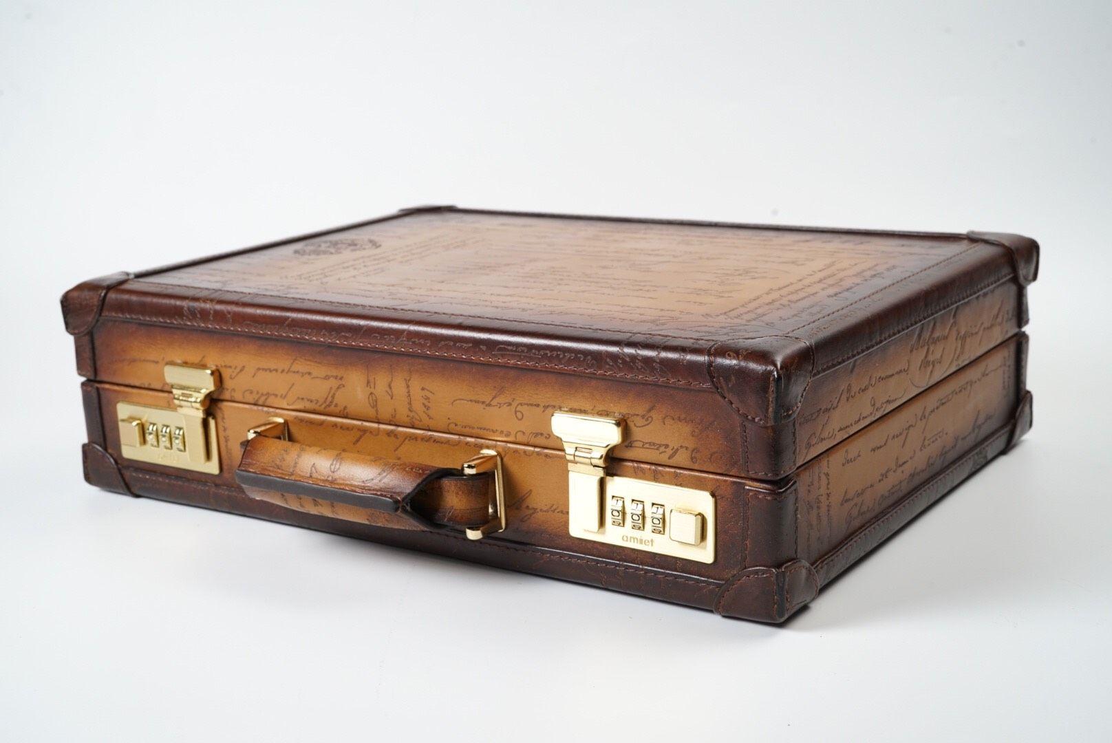 Watch Collector Case for 10 - Scripto Patina Light Tan