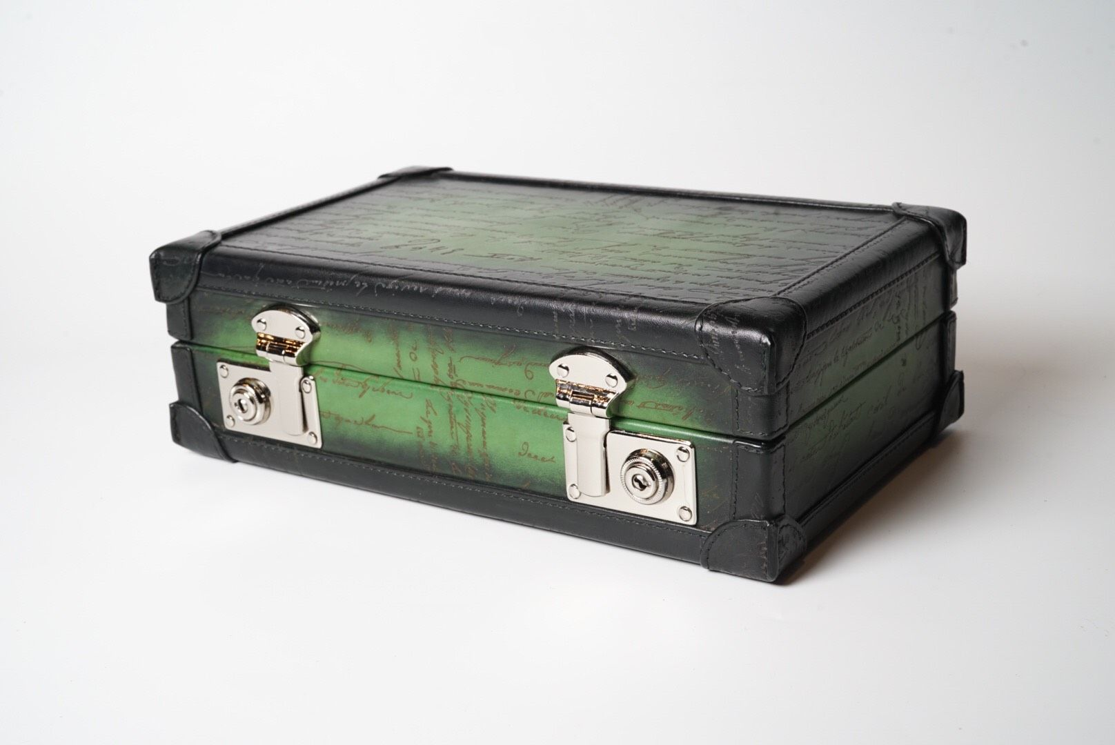 Petra Watch Case for 8 Watches - Scripto Green