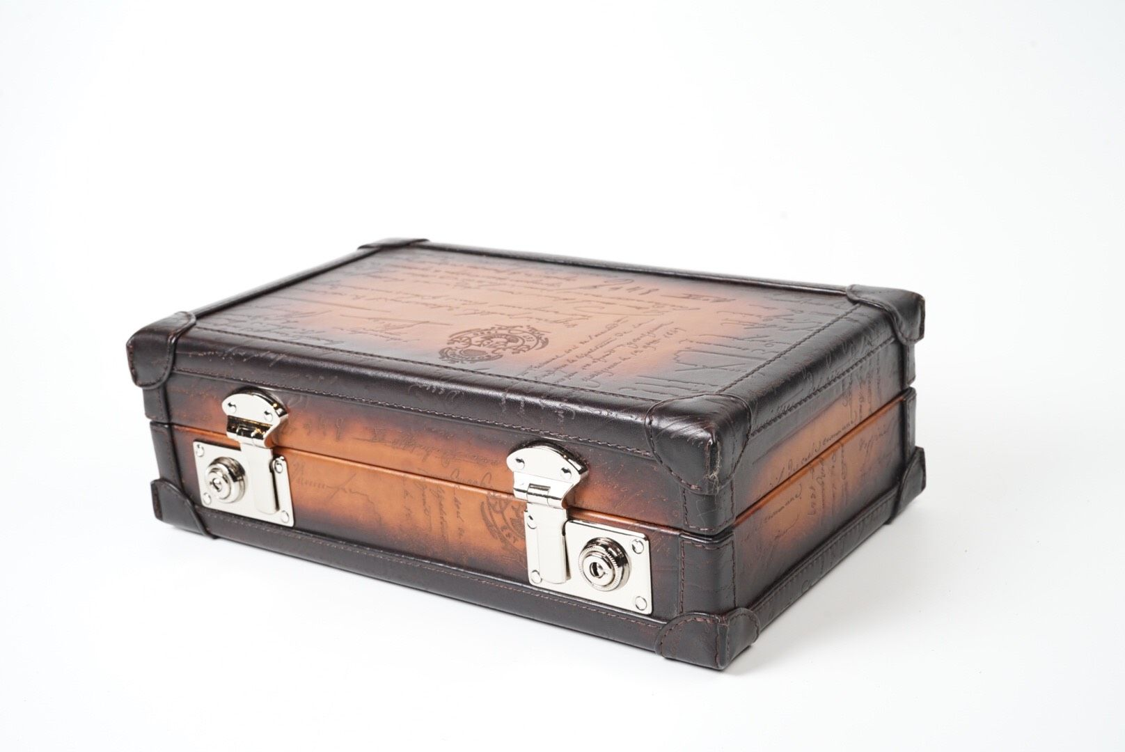 Petra Watch Case for 8 Watches - Scripto Brown