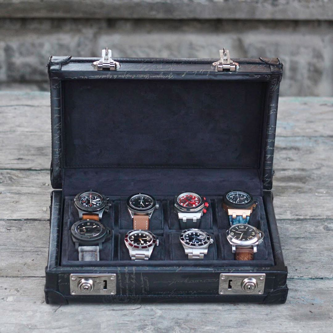 Petra Watch Case for 8 Watches - Scripto Grey