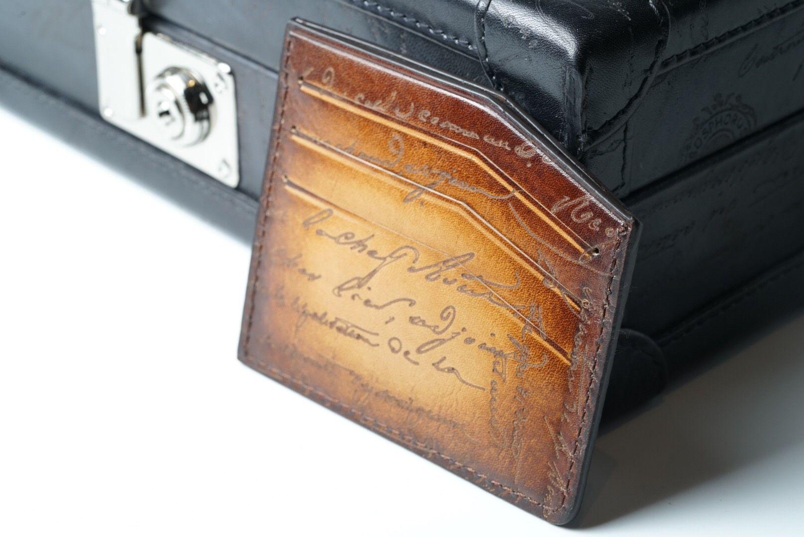 Leather Scripto Light Tan Card Holder