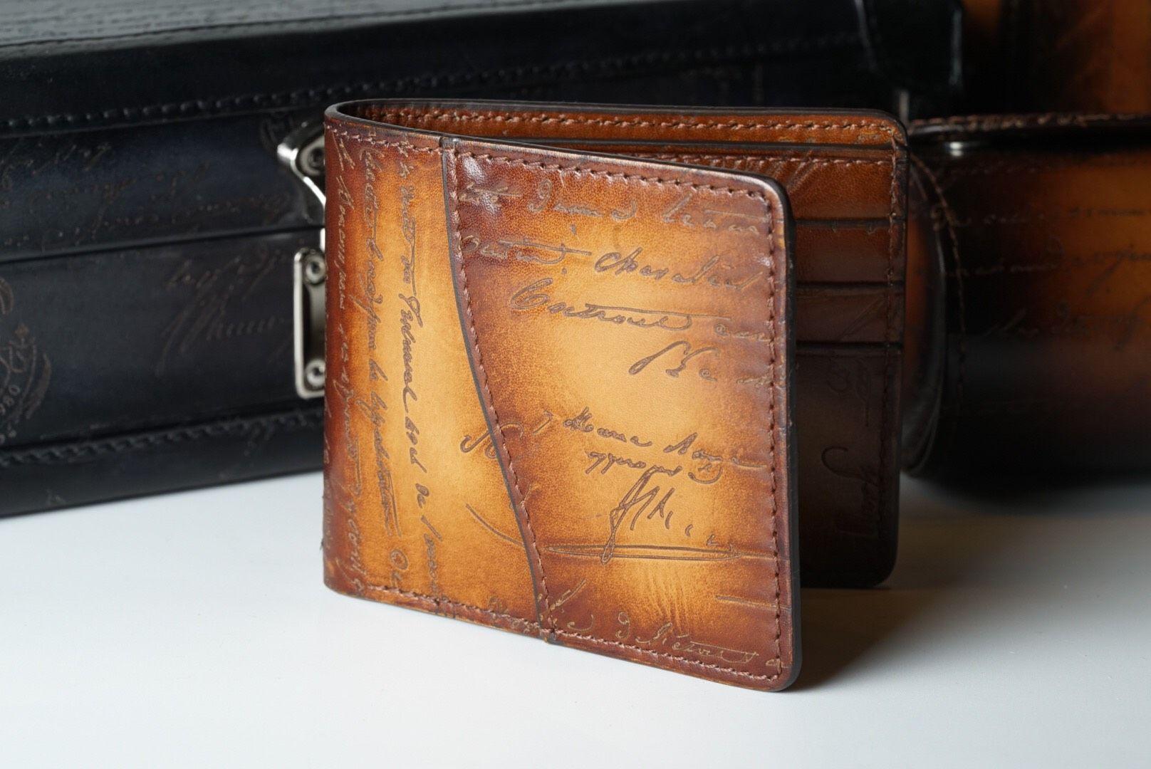 Leather Patina Scripto Light Tan Wallet