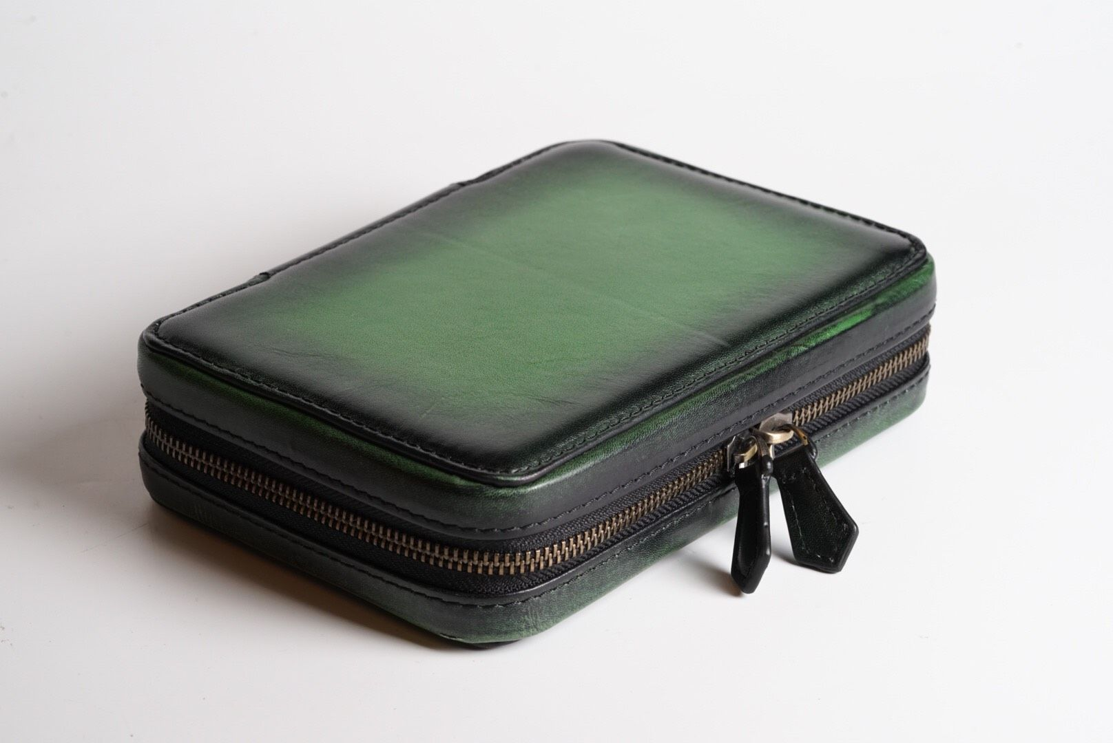 Patina Green Zipper Watch Case for 4 watches