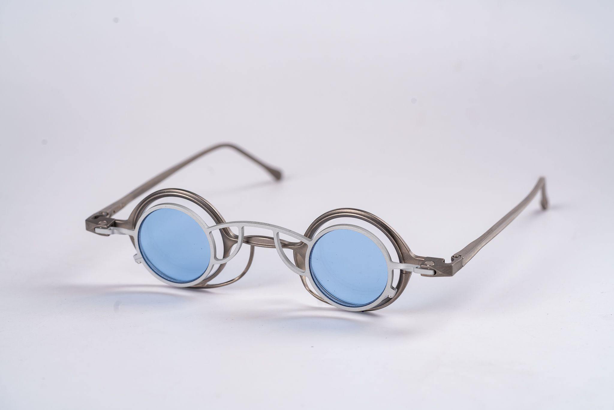 Rigards RG0105TI/VINTAGE SILVER/CEMENT CLIP/CLEAR+BLUE