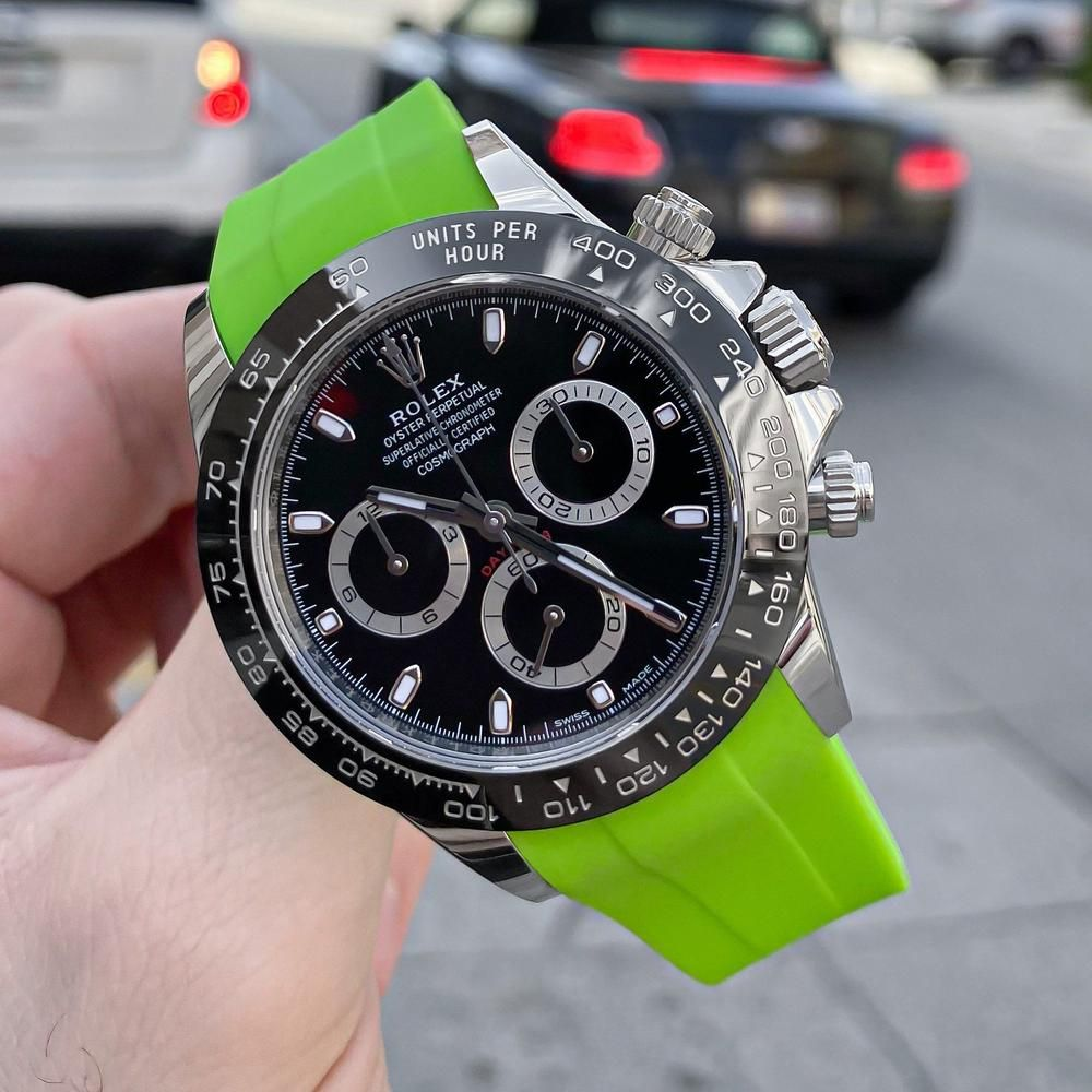 Rolex Rubber 20mm - Lime