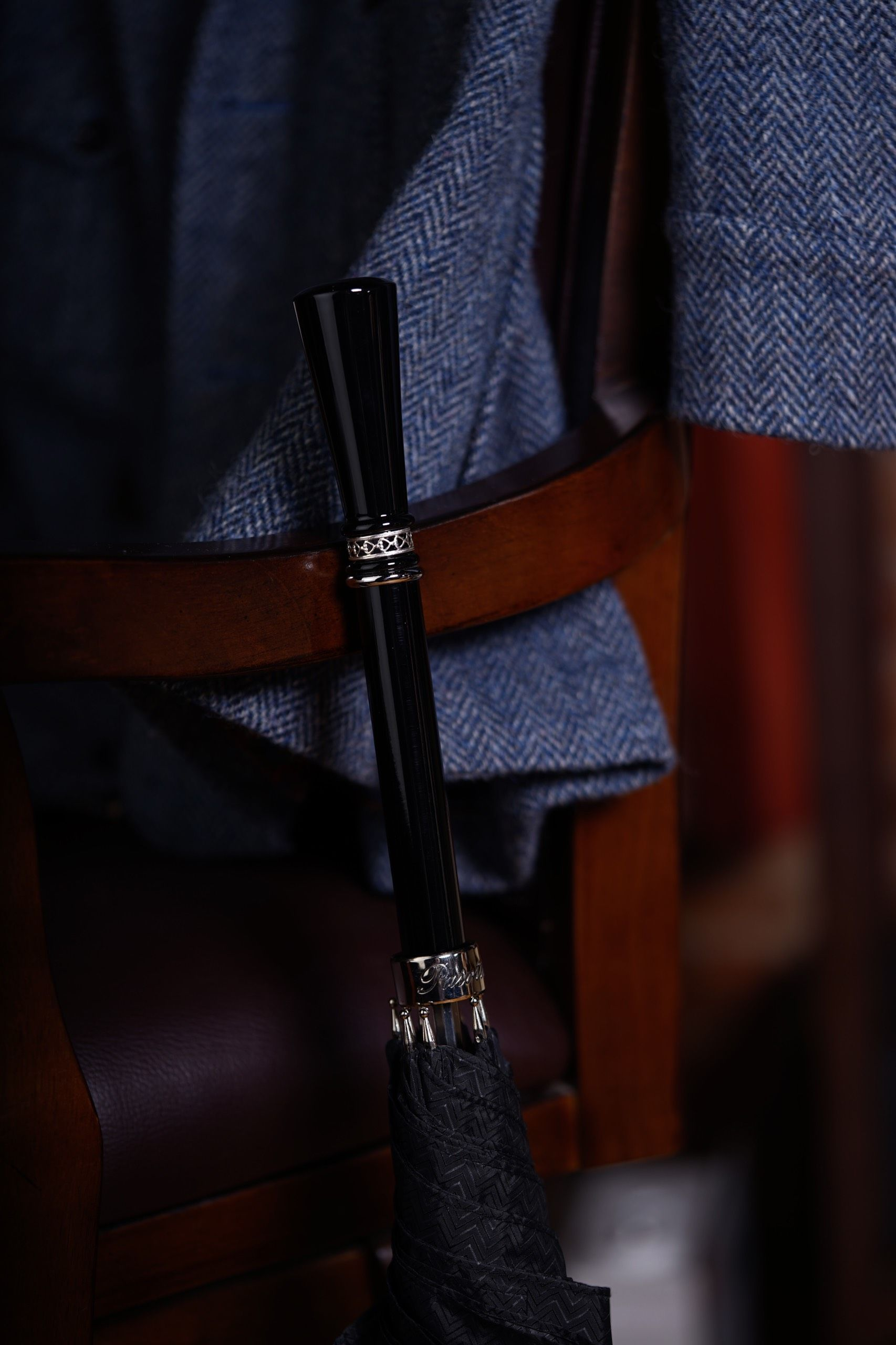 Pasotti - Luxury Black Gent's Umbrella