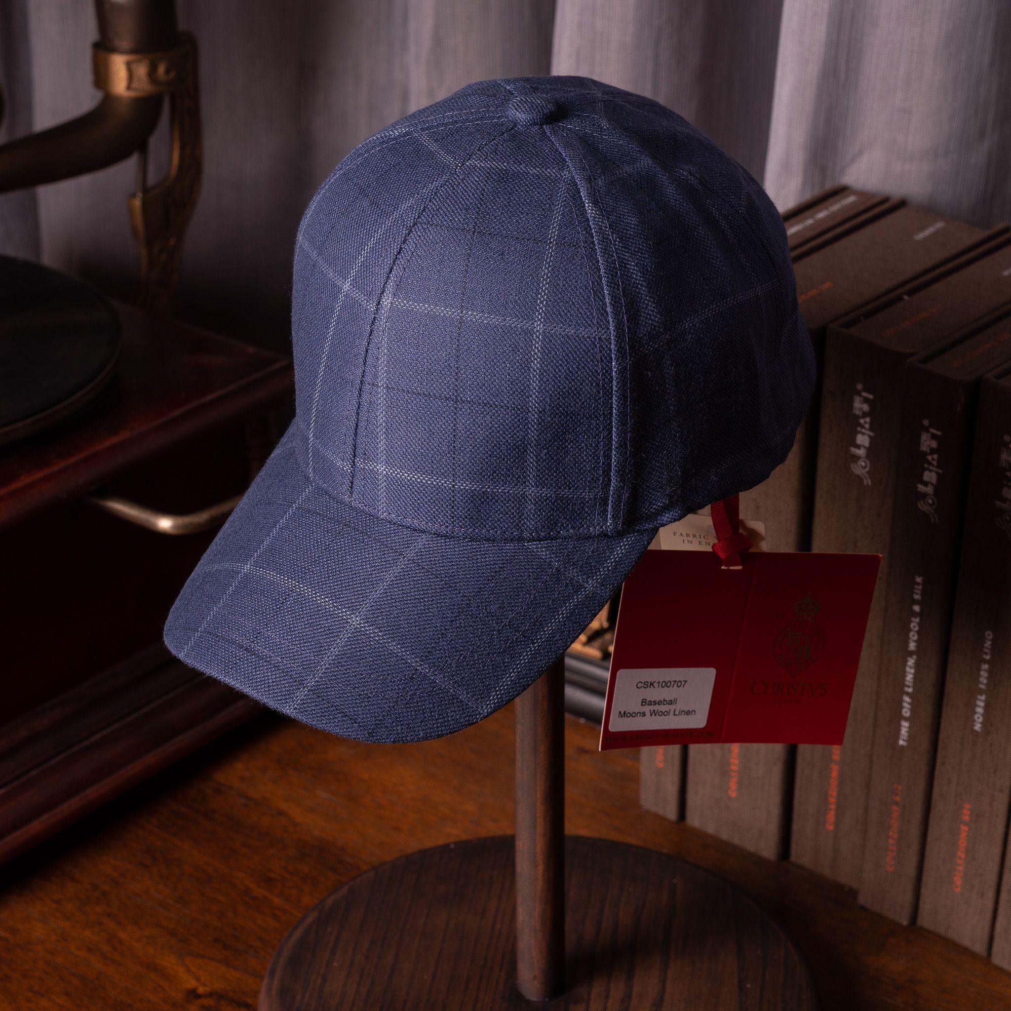 Christy's Arlo Baseball cap Blue Raker Check