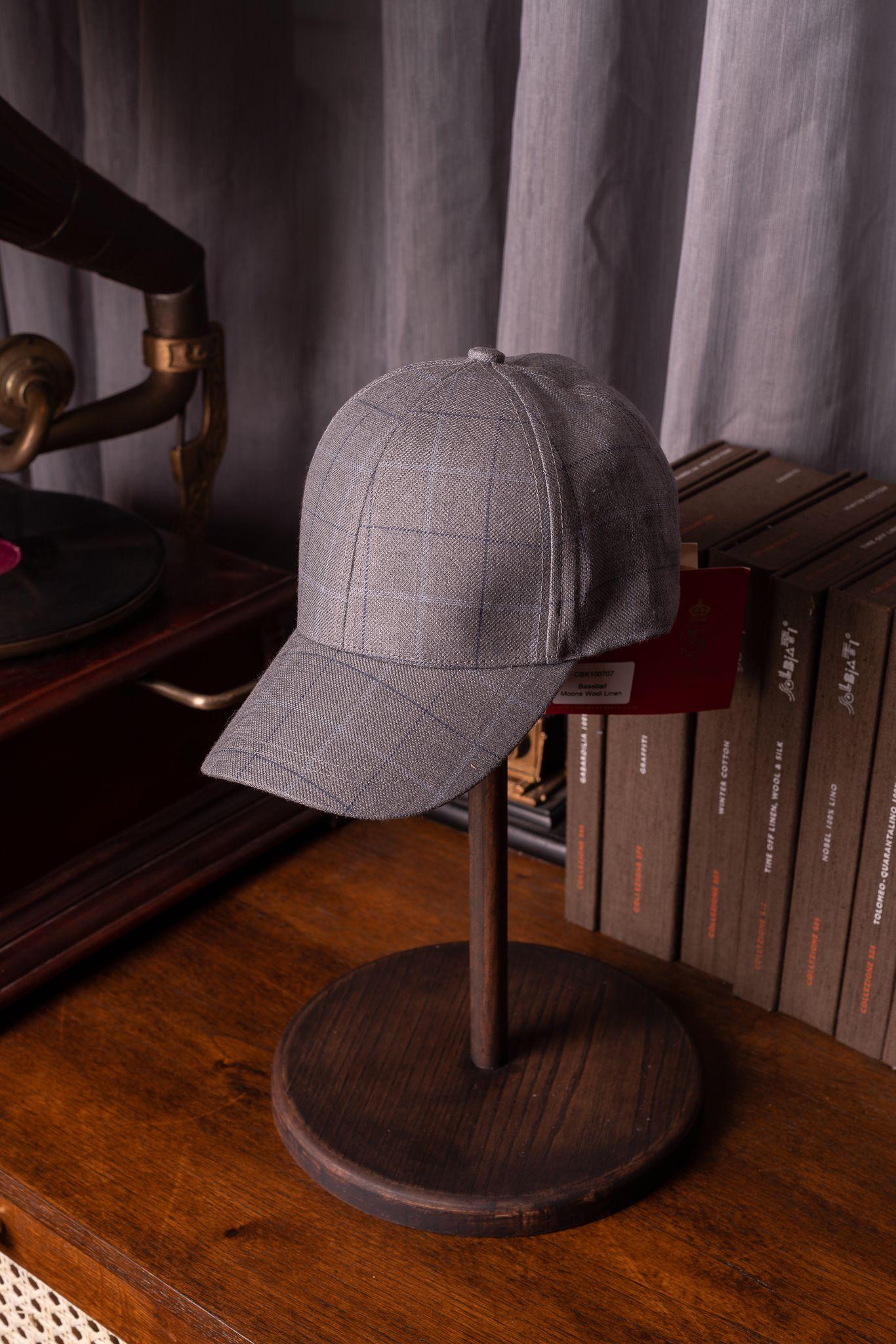 Christy's Arlo Baseball cap Grey Raker Check