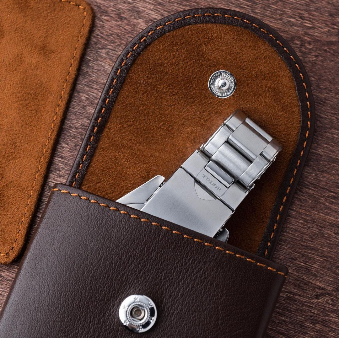 Everest Watch Pouch - ESPRESSO LEATHER