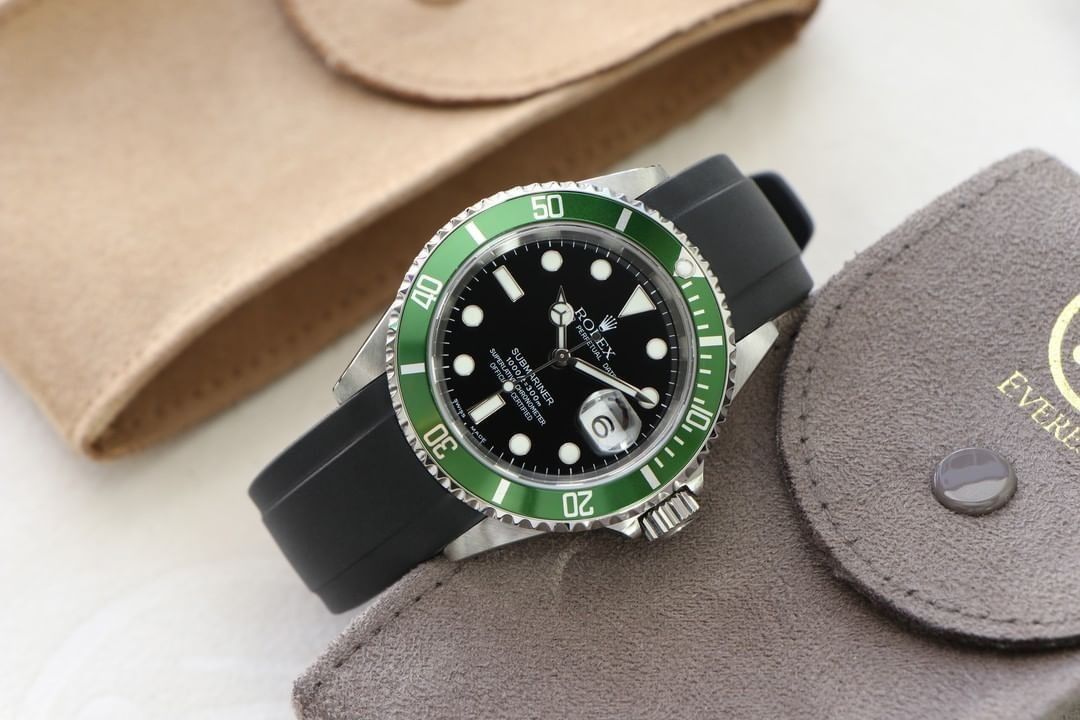 Rolex Curved End 20mm - Black (Tang Buckle)