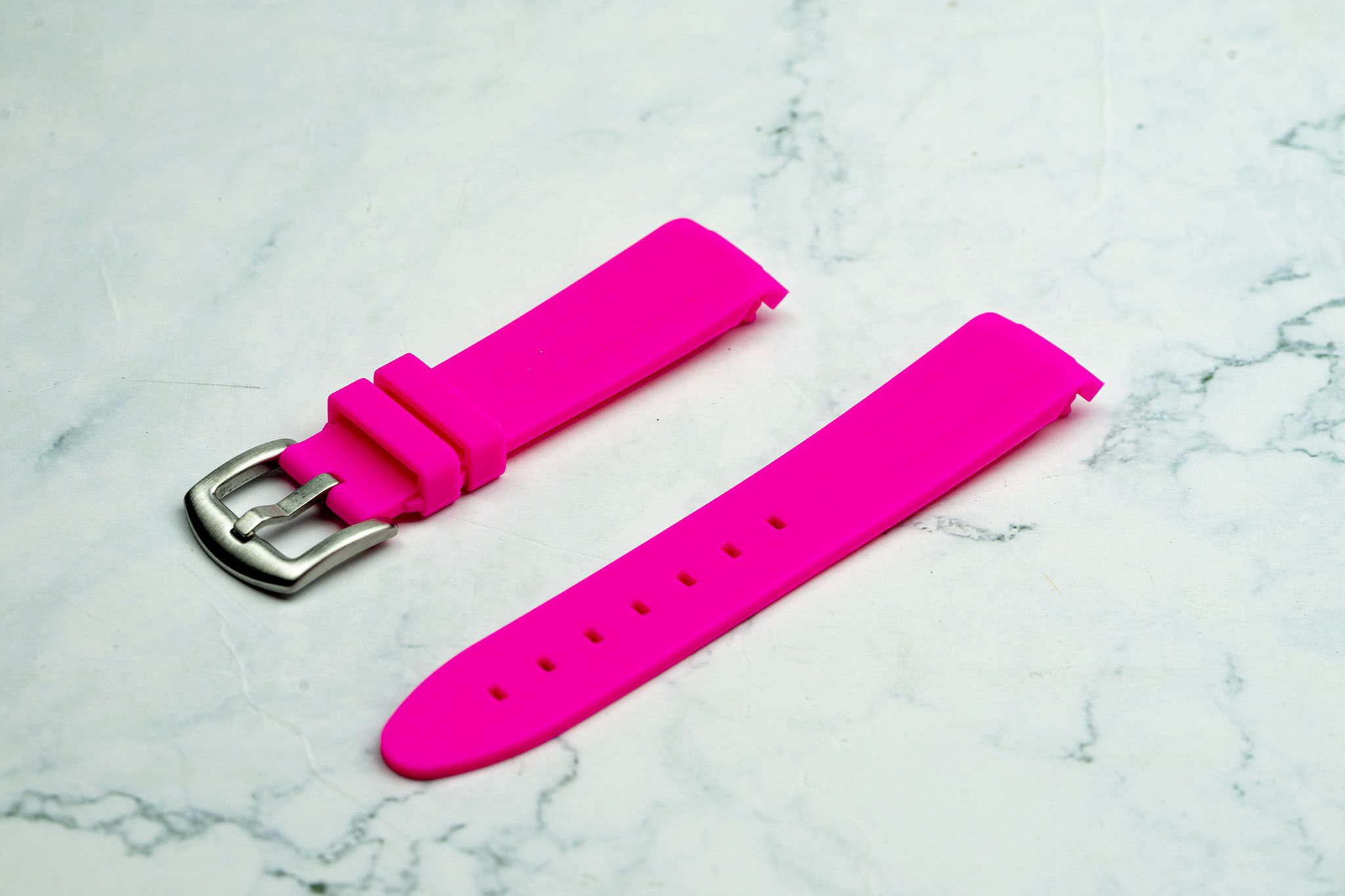 20mm Curved Ended - Pink