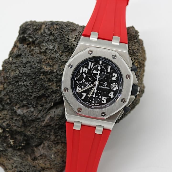 Red 42mm AP Rubber Strap