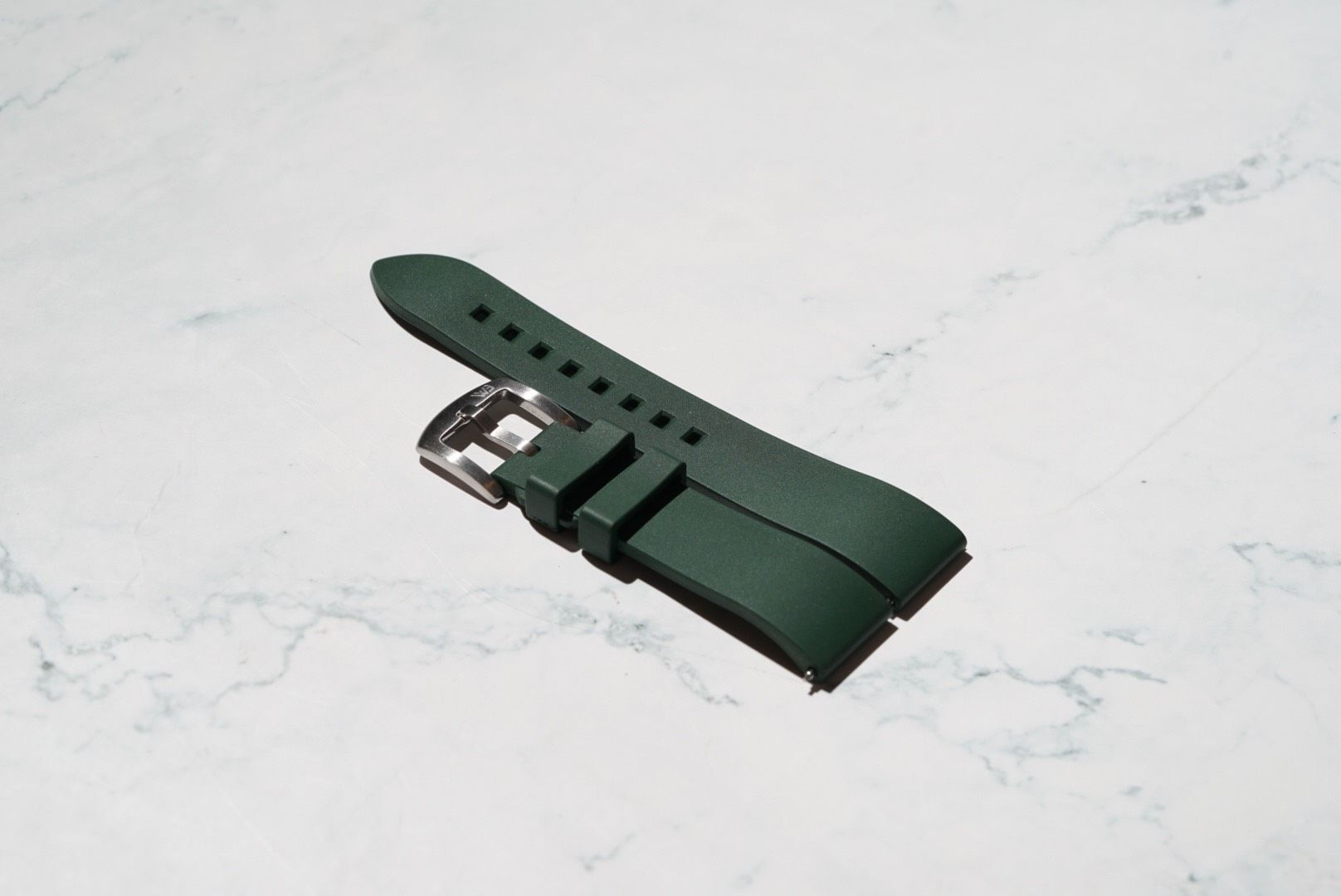 Classic Style Rubber Watch Strap – Green