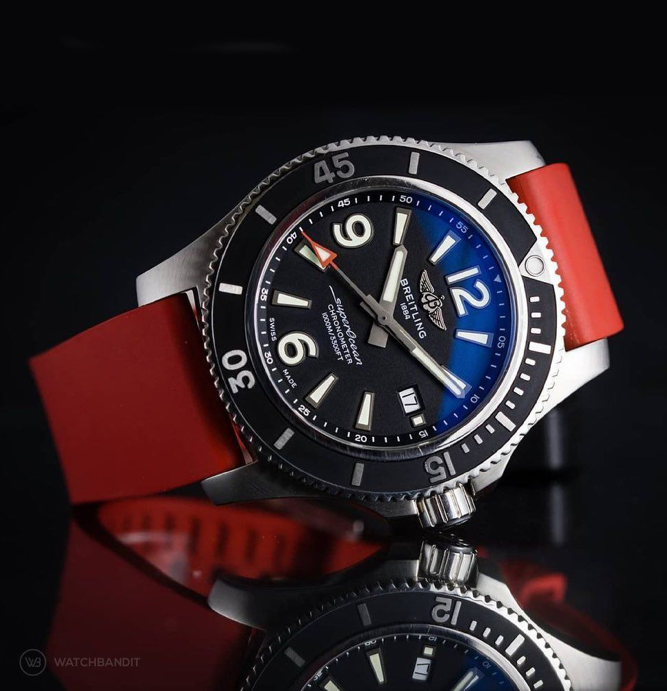 Classic Style Rubber Watch Strap – Red