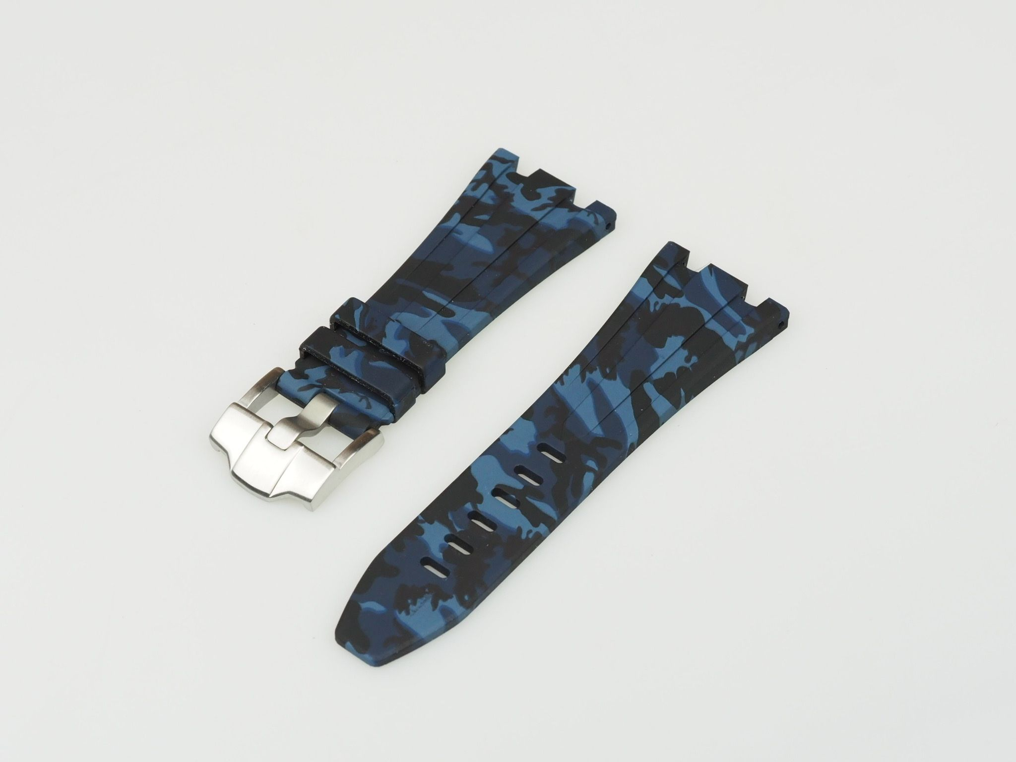 Blue Camo 42mm AP Rubber Strap
