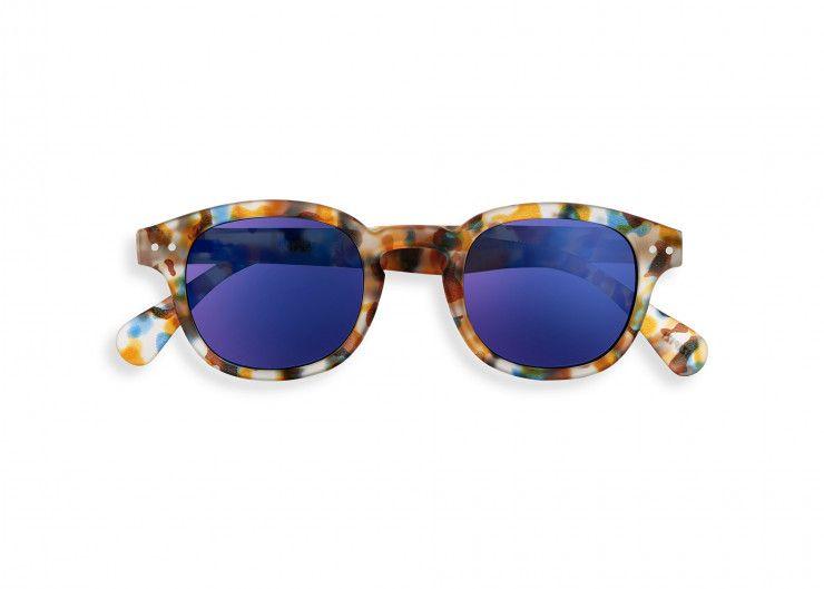 Sun C - Blue Tortoise Mirror